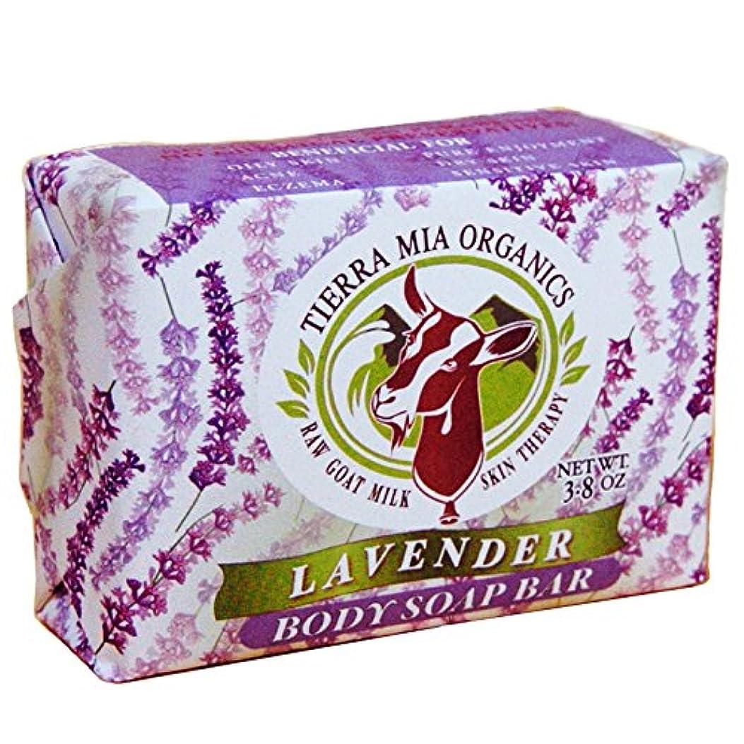 書く通貨チャペルTierra Mia Organics, Raw Goat Milk Skin Therapy, Body Soap Bar, Lavender, 4.2 oz