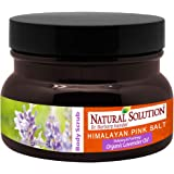 Natural Solution 8246F Organic Himalayan Pink Salt Body Scrub with Lavender Oil,Relaxing and Purifying for Younger Looking Sk
