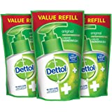 Dettol Liquid Hand Soap 175ml Original Refill (Package May Vary) Pack of 3