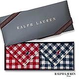 ラルフローレン 【RALPH LAUREN】タオルハンカチ2枚セットwithギフトボックス カラーを選択,99・ラージギンガム