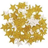 Sharplace 100枚 /セット ベビーシャワー テーブル 散乱 装飾 キラキラ ゴールド ペーパー 星  DIY デコレーション 手工芸品