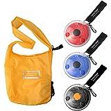 LANMUロール アップ 式 エコ バッグ 折りたたみバッグ 買い物バッグ 4個セット 防水 コンパクトに収納 エコバック コンビニ ショッピングバッグ マイバッグ 繰り返し洗える 大容量 軽量