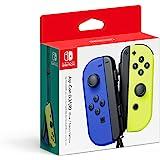 Nintendo Switch Joy-Con Controller, Neon Blue / Neon Yellow