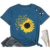 Sunflower Shirts for Women Cute Dandelion Graphics Tshirt Summer Women Short Sleeve Tee Tops