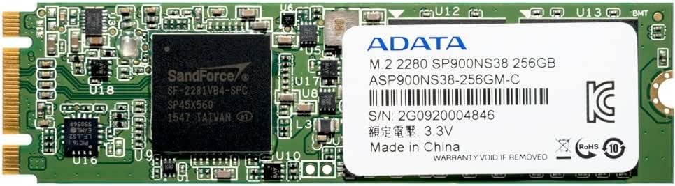 ADATA Premier Pro SSD SP900シリーズ 256GB M.2 Type2280 SATA 6Gb/s 3年保証 ASP900NS38-256GM-C