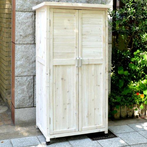 RoomClip商品情報 - 木製収納庫 Potager(ポタジェ) ハイタイプ(高さ150cm×幅80cm×奥行き50cm) ウォッシュホワイト WS-1500WHT