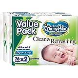 MamyPoko Baby Wipes Anti Bacterial, 76ct (Pack of 2)