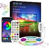 Led TV Backlight,JESLED Bluetooth Led Strip Lights for TV, Smart App Control, Led Strip Light for 24-40 inch TV, Computer, PC
