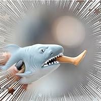 elegantstunning 創造的な食べ物の脚サメス通気と圧搾を押すこと 手錠おもちゃの人形 ランダム色