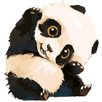 Amazonwowdecor Diy 数字油絵4050cm かわいいパンダ ぬりえ