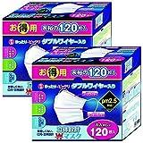 【セット品】東京企画販売 立体設計Wワイヤーマスク大人 120枚 ×2個