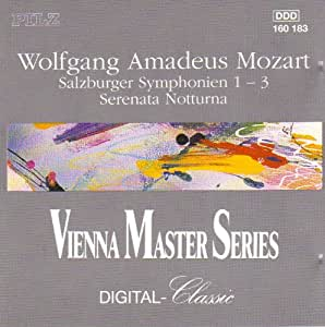 Vienna Master Series: Salzburger Symphonien 1-3
