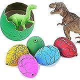24 PCS Dinosaur Eggs That Hatch Growing Easter Eggs with Mini Dinosaur Toys Inside for Kids Boys Girls Easter Basket Stuffers