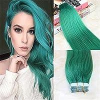 HairDancing 45cm テープの髪拡張 ブラジル コガモ・カラー 本当の人間の髪拡張 2.5g 部分につき 50Gram 20pcs パッケージにつき テープイン シームレスな人間の髪 皮のよこ糸