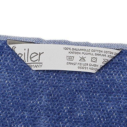 フェイラー タオル FEILER 205 GUEST TOWEL BALTIC BLUE ゲストタオル SMOKY BLUE[並行輸入品]
