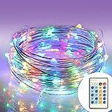 (モニコ)MONIKO イルミネーション 防水 コントローラー付 省エネ LED パーティー用電飾 メリクリスマス飾り ストリングライト 100球10m(マルチカラー)