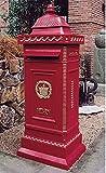 ジャービス商事 ヨーロピアンメイルボックス(スタンドポスト) 赤 35001N
