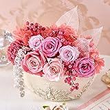 プリザーブドフラワー 母の日 フラワーギフト アレンジメント 「ピンクハーモニー」ピンク系 日比谷花壇