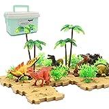 恐竜おもちゃ 恐竜フィギュア 男の子おもちゃ 収納ボックス 恐竜遊び リアルな恐竜おもちゃ 樹木 ブロック地形 創造できる恐竜公園 男の子 おもちゃ 知育玩具 誕生日ギフト クリスマスプレゼント 6歳以上