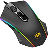 Redragon M710 Gaming Mouse High-Precision Ambidextrous Programmable Gaming Mouse with 7 RGB backlight modes and tuning weight