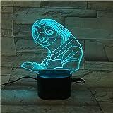 3DイリュージョンLedナイトライトイリュージョンランプ3D5カラーグラデーションLedBluetoothスピーカーブラックベースクレイジーアニマルシティテーブルランプ