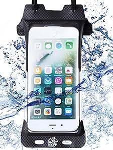 【完全防水 スマホケース】IPX8認定 防水ケース iPhone8 iPhone7 iPhone 6 6s 5 5s 5c X SE スマホ用 高品質 【 指紋認証対応 】スマホポーチ 防水ポーチ 海 プール お風呂 登山 釣り Waterproof スマートフォン 台湾製 Sweetleaff (iphone6/6s/7/8)