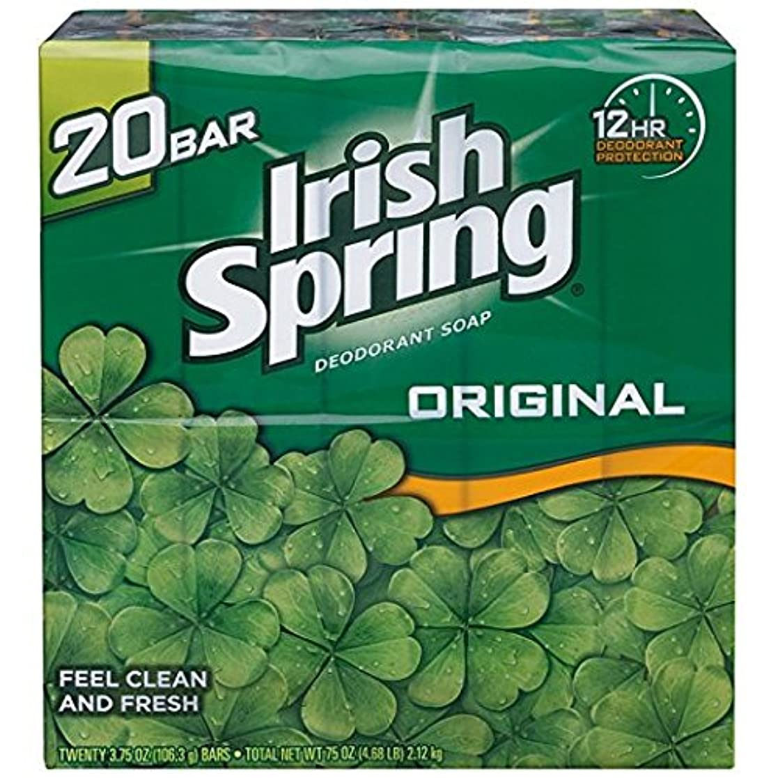 同級生彫刻忠誠Irish Spring アイリッシュスプリング オリジナル 固形石鹸 20個 海外直送