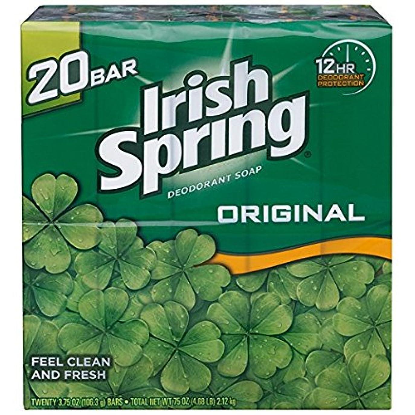 困難男陰気Irish Spring アイリッシュスプリング オリジナル 固形石鹸 20個 海外直送