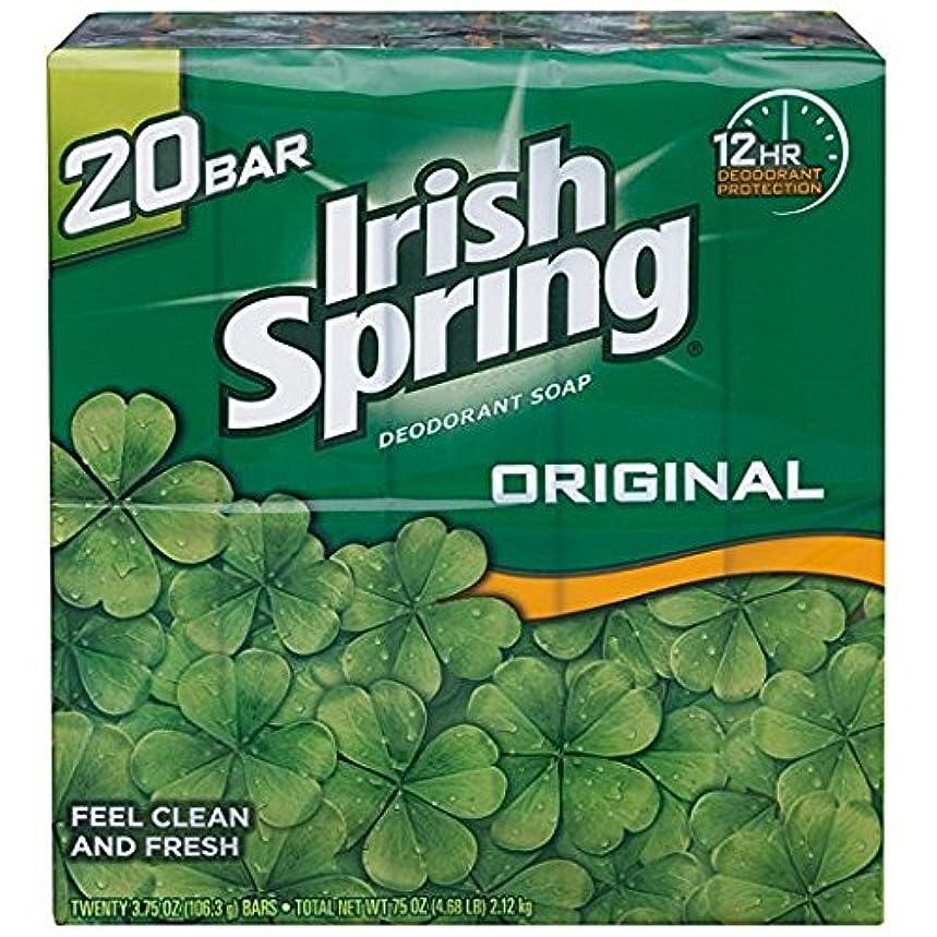 星耳支払うIrish Spring アイリッシュスプリング オリジナル 固形石鹸 20個 海外直送