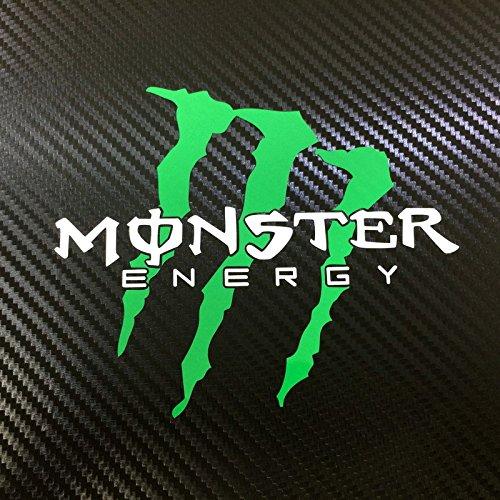 【斜め爪・給油口サイズ】 MONSTER ENERGY (モンスターエナジー) 車・バイク用 小サイズ ステッカー / デカール (白文字ver)