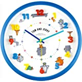 ティーズファクトリー 掛け時計 アイコンウォールクロック トム&ジェリー ファニーアート 4×30×30cm TJ-5520288FA