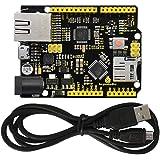 KEYESTUDIO W5500 Ethernet Control Board Development Board for Arduino IDE, Support MicroSD Card w/USB Cable, Not Ethernet Shi