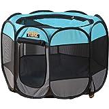 "PaWz Dog Playpen Pet Play Pens Foldable Panel Tent Cage Portable Puppy Crate 36"" Navy 36"": 88(L) x88(W) x62.5(H) cm"