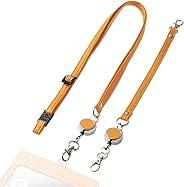 エレコム ネックストラップ ハンドストラップ 2個セット [ IDケース / 社員証 / 定期入れ / 名札 等]  白箱 オレンジスカッシュ P-STNHDR
