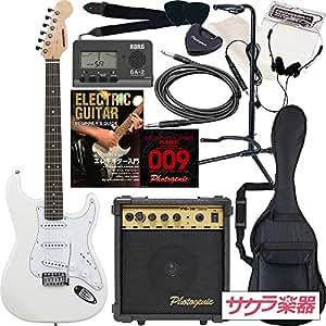 SELDER エレキギター ストラトキャスタータイプ ST-16 初心者入門13点セット /ホワイト(9707001041)