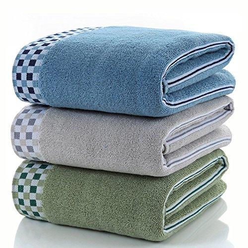 ACATIM バスタオル 綿100% 大判バスタオル 家庭用 ホテルスタイル 柔らか 優れた吸水性と速乾性 抜群の肌触り 3枚セット 約70×140cm (三色 セット)