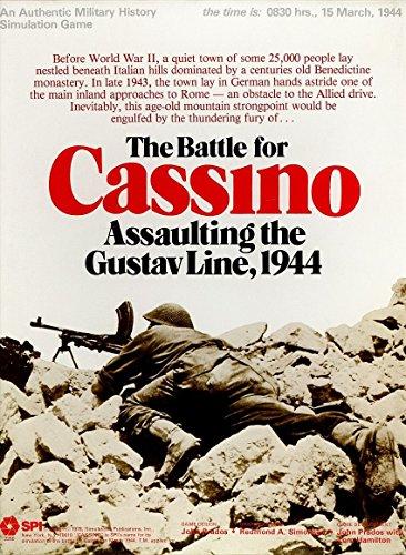SPI : Battle for Cassino、GustavラインAssaultingし、1944年、Boardgame、ボックス版2nd Edition