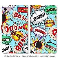 スマホ スマートフォン 手帳 スマホケース コミック 【2100_BANG1|シンプルスマホ3 509SH】