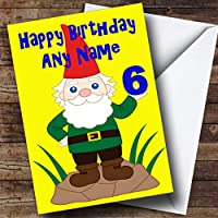 Funny gnome Personalized Birthday Greetingsカード