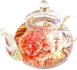 誕生日 花 ギフト プレゼント 工芸茶10種とガラスティーポット プレミアムBOX 優雅セット 内祝い 記念日 お茶&茶器 (Amazon出荷)