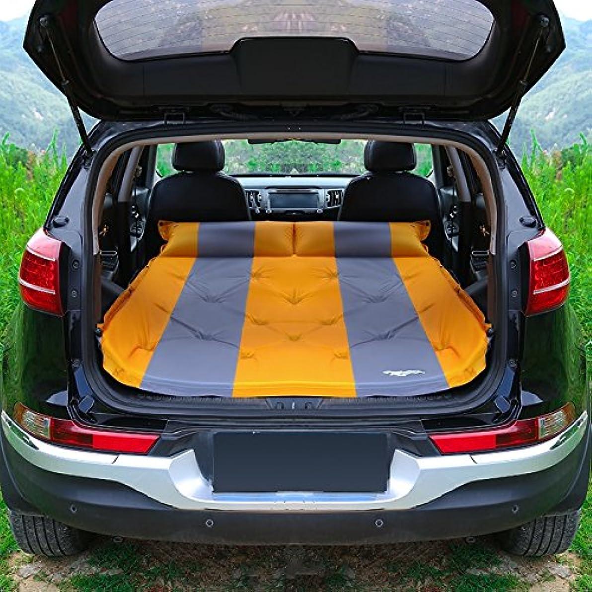 に向けて出発慣性メンタルGYP 車インフレータブルマットレスビジネスカークレートエアクッショントラベルベッドシーツダブルカースリーピングパッドカーシートベッドアウトドアキャンプカーベッド ( 色 : イエロー いえろ゜ )
