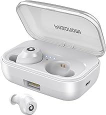 [Bluetooth5.0進化版] 72時間連続駆動 IPX7完全防水 Bluetooth イヤホン 完全 ワイヤレス イヤホン Pasonomi ブルートゥース イヤホン 自動ペアリング 自動ON/OFF 高音質 充電ケース付き タッチ式 マイク付き Siri対応 左右分離型 両耳 iPhone Android 対応 技適認証済み (ホワイト)
