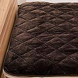 【極細繊維でとろける手触り!きめ細かい肌触りのフランネル敷きパッド(シングル)】100×200cm ベッドパッド あったか 冬 起毛 保温性 柔らか ウォッシャブル 色:ダークブラウン