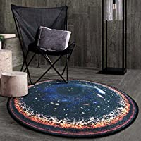 ZHIRONG カーペット円形厚いクリエイティブファッションノンスリップ家庭用実用製品(サイズ複数選択) ( サイズ さいず : 100cm )