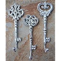 Lulu装飾、鋳鉄キーホルダーとコートフック