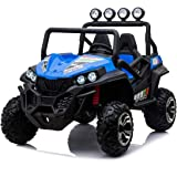 Beach Buggy Speed, 4x4 24V Electric Ride On Toy for Kids - Blue