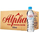 Alpha Pure Drinking Water, 500ml (Pack of 24)