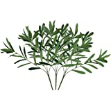 LIOOBO 3pcs Olive Branch Plastic Artificial Green Olive DIY Decoration Props for Wedding Home (Green)