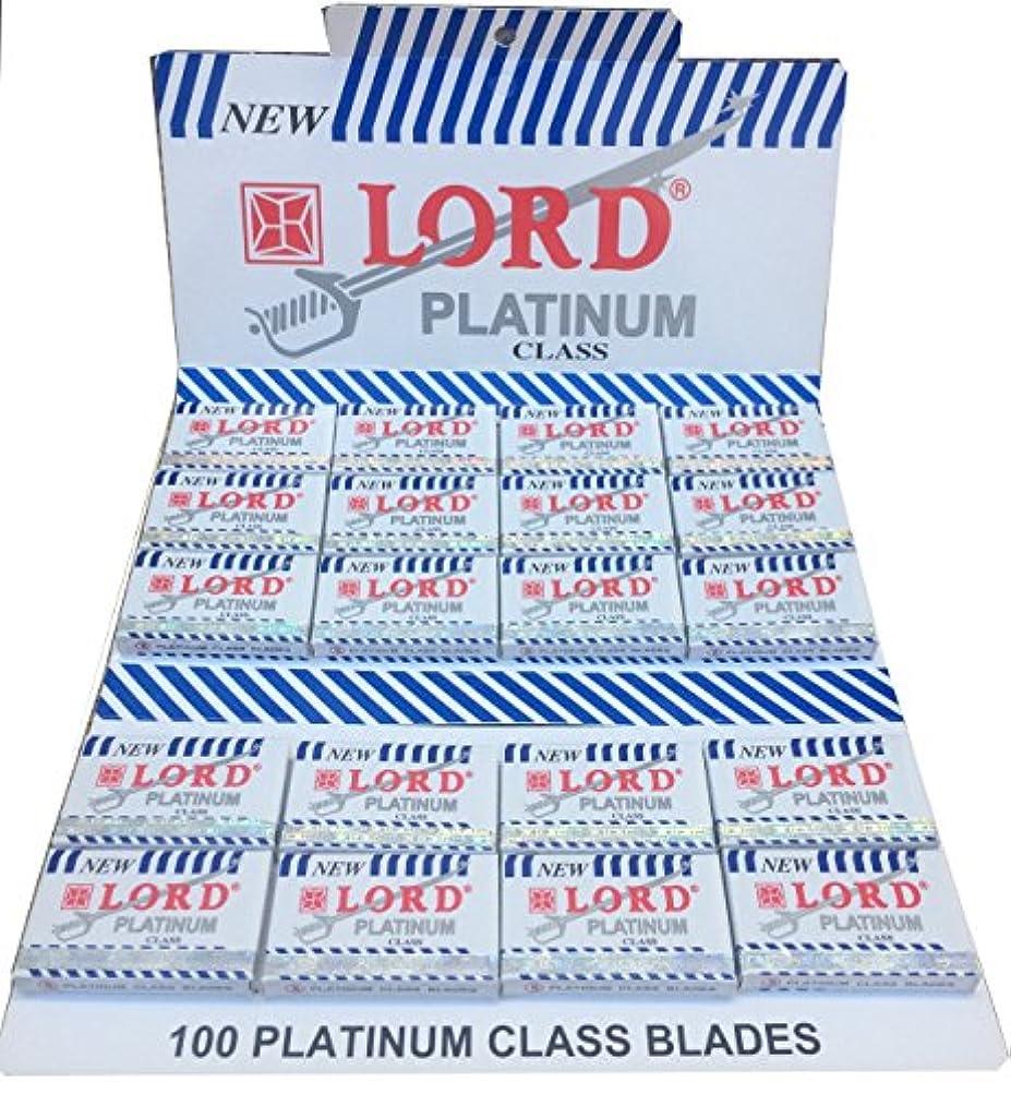 更新するしたがって農民Lord Platinum 両刃替刃 100枚入り(5枚入り20 個セット)【並行輸入品】