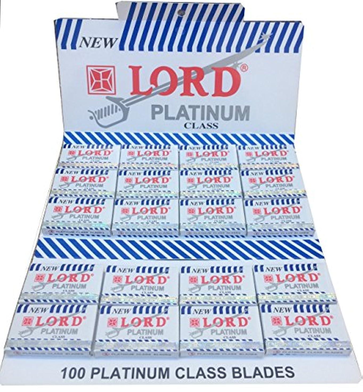 忠実な思慮のないピューLord Platinum 両刃替刃 100枚入り(5枚入り20 個セット)【並行輸入品】